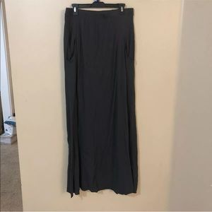 Free People beach pocketed maxi skirt gray large